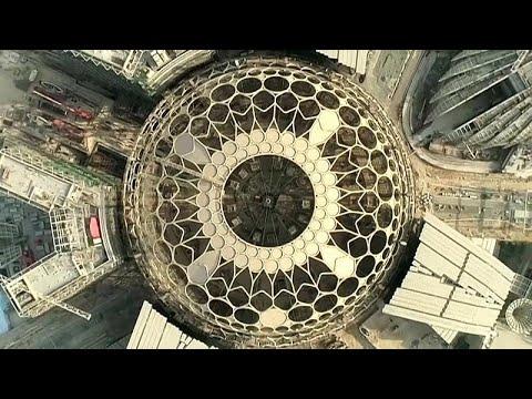 فيديو انتهاء الأعمال في قبة إكسبو دبي 2020 الفولاذية