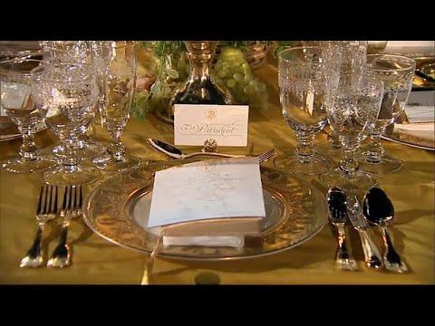 بذخ ترامب وذهبه في عشاء على شرف رئيس الوزراء الأسترالي في البيت الأبيض