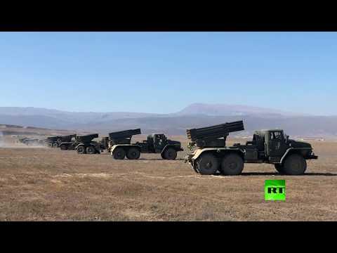 وحدة مشاة بحرية روسية تُطلق صواريخ تورنادو  جي في داغستان