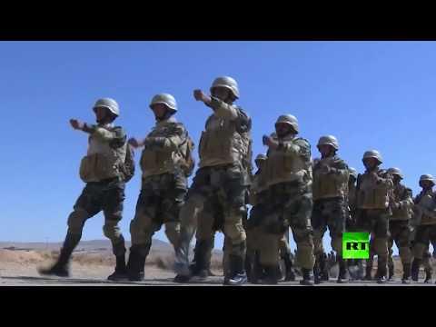 تدريبات الجيش السوري في ضواحي العاصمة دمشق