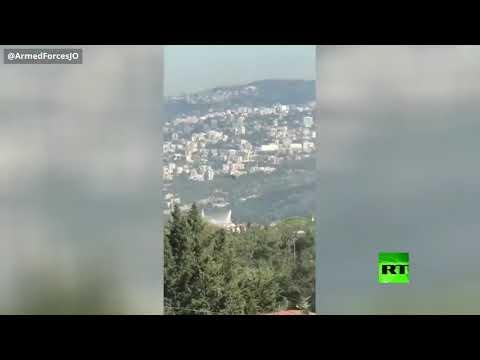 الجيش الأردني يساهم في إخماد حرائق لبنان