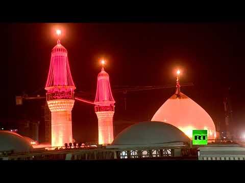 مئات الآلاف يصلون كربلاء قبيل يوم الأربعين الحسيني