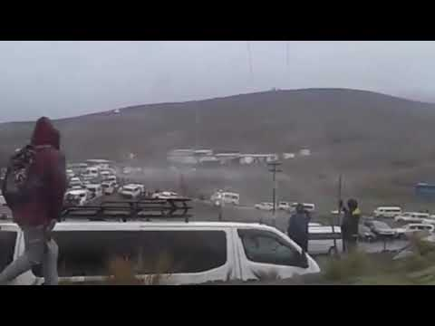 شاهد طائرة هليكوبتر تترنح في الجو وعلى متنها رئيس دولة بوليفيا