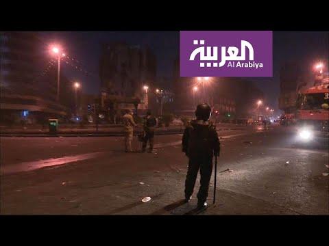 شاهد تنفيذ أوامر بفض التظاهرات خارج ساحة التحرير وجسر الجمهورية