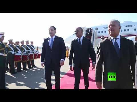 استقبال رئيس الحكومة التونسية يوسف الشاهد في الجزائر