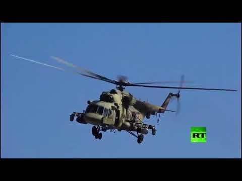 مروحيات روسية تحوم فوق أجواء بلدة عين عيسى شمال الرقة
