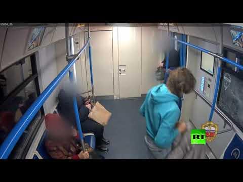 شاهد محاولة فاشلة لممارسة التمارين في مترو موسكو