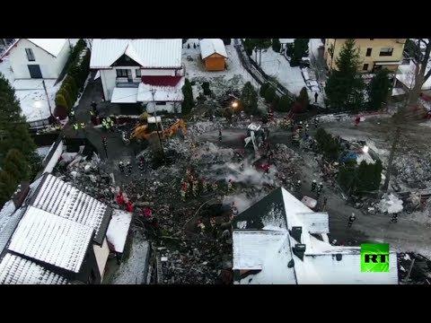 شاهد 8 قتلى جراء انفجار للغاز داخل منتجع للتزلج في بولندا