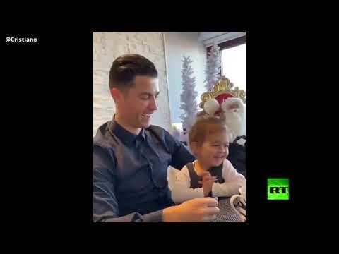 شاهد كريستيانو رونالدو ينشر فيديو مُثير مليء بالقبلات مع الأميرة الحلوة