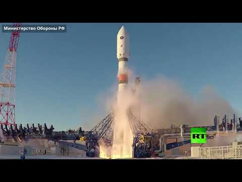 إطلاق صاروخ سويوز يحمل قمر غلوناس الروسي