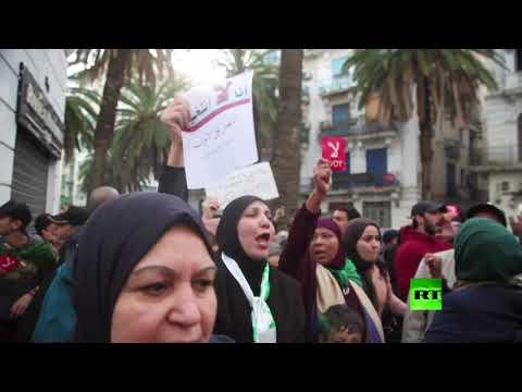 استمرار احتجاجات ضد انتخابات الرئاسة في الجزائر