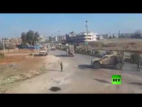 حامية مطار القامشلي تقطع الطريق أمام قوات أمريكية وتجبرها على العودة