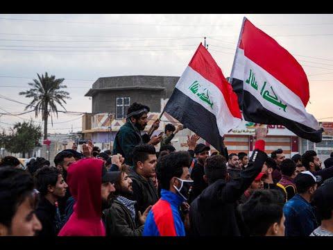 شاهد مقتل متظاهر وإصابة العشرات إثر مواجهات مع الأمن في بغداد