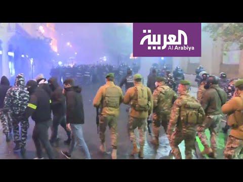 شاهد إجراءات أمنية مكثفة وسط بيروت بعد مواجهات مع المتظاهرين