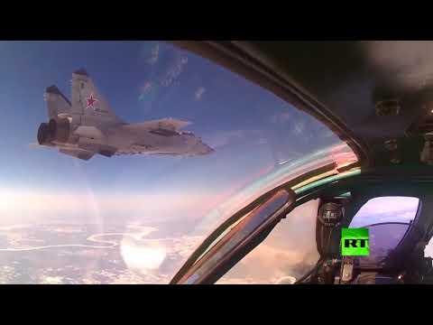 شاهد ميغ31 و سو34 تتناوب على حماية سماء روسيا
