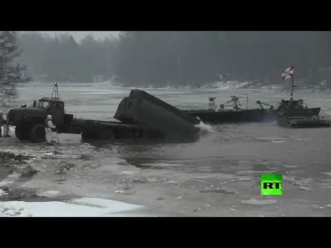 مناورات للوحدات الهندسية العسكرية في ضواحي موسكو