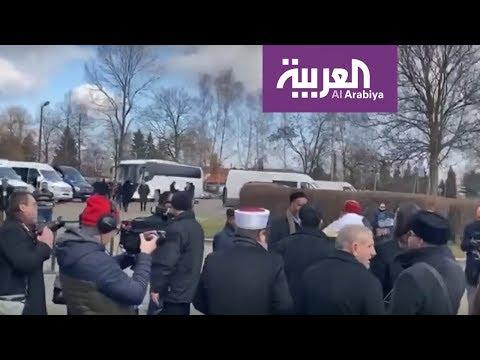 شاهد وفد من علماء المسلمين برئاسة أمين رابطة العالم الإسلامي يزور موقع الهولوكست