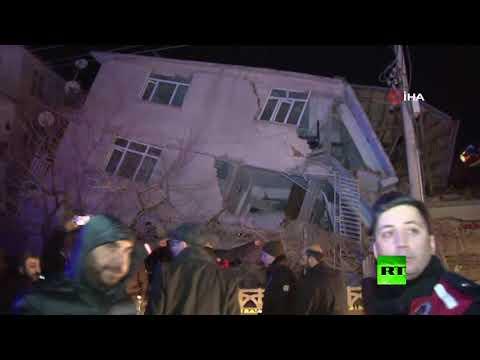 زلزال يضرب شرق تركيا وحصيلة الضحايا في ارتفاع