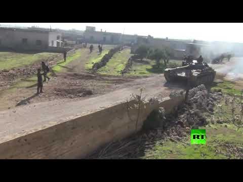 شاهد الجيش السوري يسيطر على قريتين في ريف إدلب