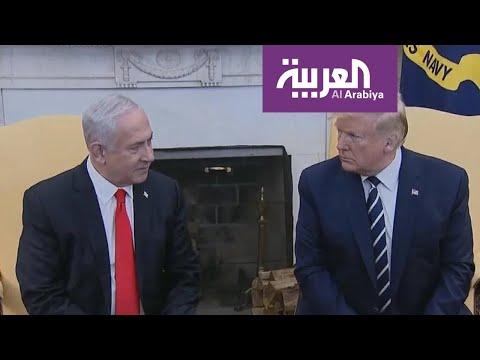 شاهد الرئيس الأميركي يكشف أن خطة السلام تلقى قبول نتنياهو وخصمه