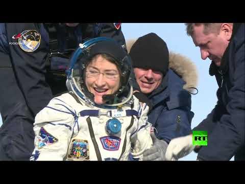 شاهد رائدة الفضاء الأمريكية على الأرض بعد أطول مدة بقاء امرأة هناك