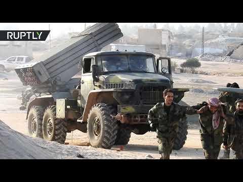 الجيش السوري يطلق النار نحو مواقع المسلحين في ريف إدلب