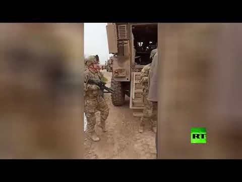 مواطن سوري يواجه عسكريين أمريكيين ويطالبهم بمغادرة بلاده