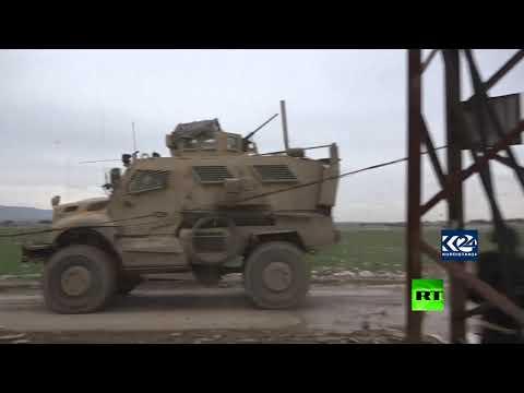 رتل عسكري أميركي يتعرض للرشق بالحجارة في سورية