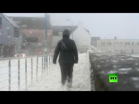 كاميرات ترصد وصول عاصفة دينيس إلى فرنسا