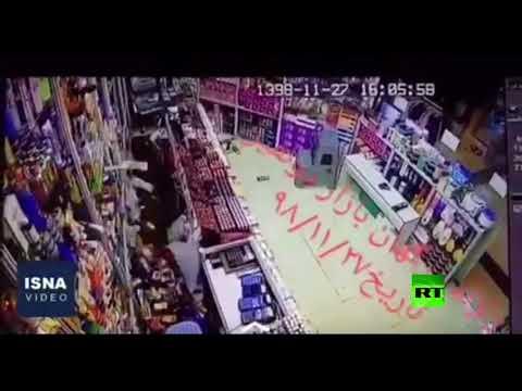 شاهد كاميرات تسجل لحظة زلزال قوي ضرب إيران