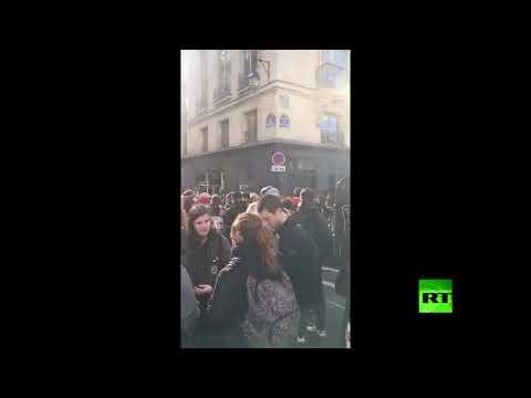 تظاهرات وإضرابات نقابية تتسبب في شل الحركة المرورية في باريس