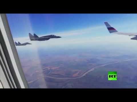 مقاتلات صربية ترافق طائرة وزير الدفاع الروسي سيرغي شويغو