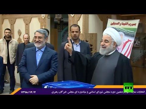 شاهد روحاني يدلي بصوته في الانتخابات البرلمانية
