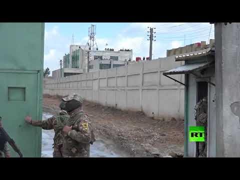 شاهد وصول تعزيزات من قسد إلى سجن لأسرى داعش في الحسكة