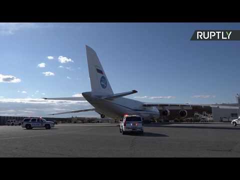 شاهد روسيا تُرسل طائرة مساعدات إنسانية إلى نيويورك