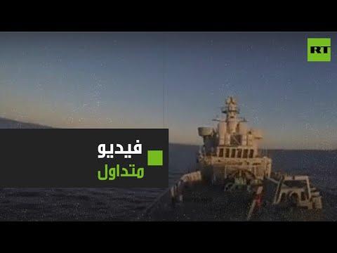 لحظة إصابة السفية الإيرانية كونارك وطهران تنفي صحة الفيديو