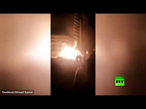 حريق هائل بأنبوب لضخ الغاز في مصر بعد اصطدام حفار آلي به