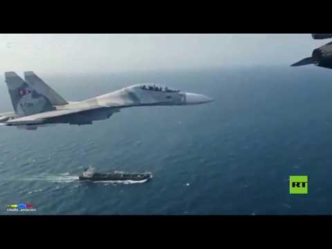 مقاتلات سو 30 وإف 16 تُحلق فوق ناقلة النفط الإيرانية فورست
