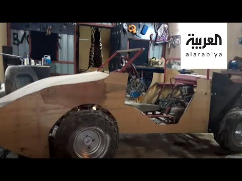 شاهد سعودي من حفر الباطن استغل فترة الحجر لصنع سيارة