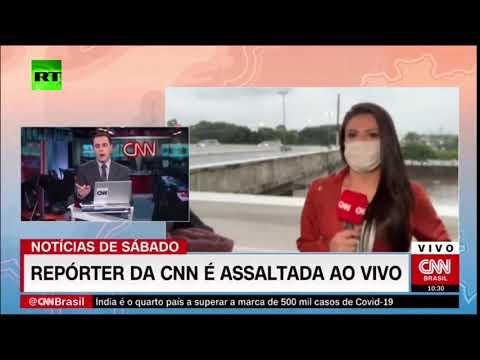 مذيعة سي إن إن برازيل تتعرض لسطو مسلح على الهواء