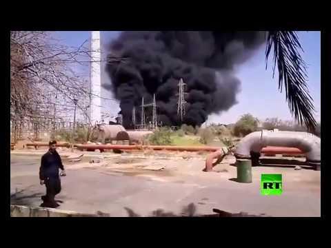 حريق في محطة مدحج زرغان للغاز جنوب غرب إيران