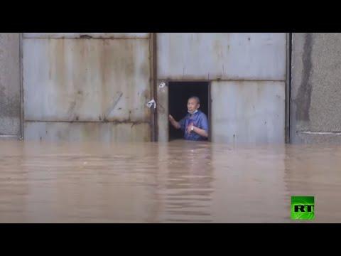 الفيضانات تُكبد الصين خسائر فادحة وإجلاء آلاف السكان