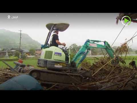 أكثر من 60 قتيلًا ومئات العالقين بسبب الانزلاقات الأرضية في اليابان