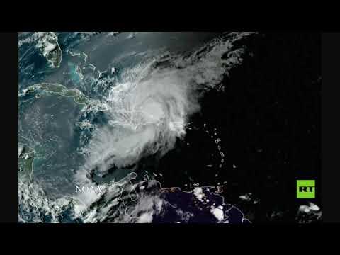 تصوير فضائي العاصفة إسياس تتحول إلى إعصار