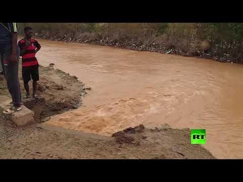 ارتفاع مناسيب النيل والمياه تغمر أحياء كاملة في  السودان