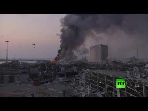 اللقطات الأولى لـالانفجار الكبير في العاصمة اللبنانية بيروت