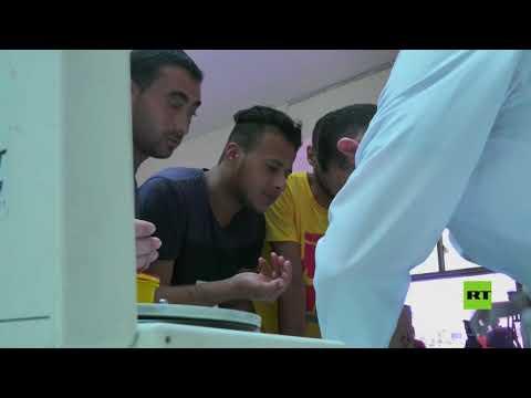 شاهد العشرات من الفلسطينيين يتبرعون بالدم لضحايا انفجار مرفأ بيروت