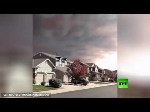 شاهد لقطات جديدة لدخان كثيف يغطي سماء ولاية كولورادو الأميركية