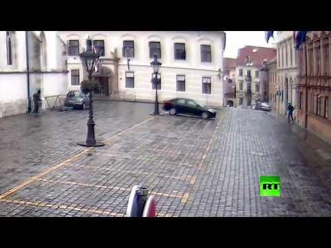 الشرطة الكرواتية تنشر فيديو لإطلاق نار قرب مقر الحكومة