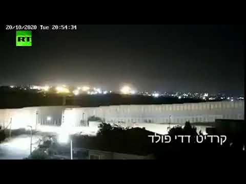شاهد إطلاق صاروخ من قطاع غزة في اتجاه جنوب إسرائيل